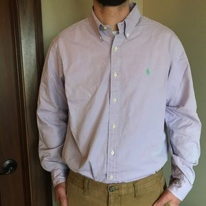 Ralph Lauren Lilac Button Down Shirt: EUC